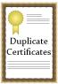 Duplicate Certificate